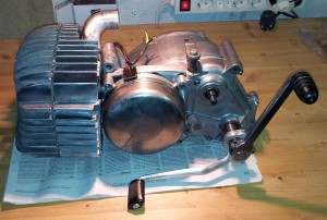 Gereinigter Motor