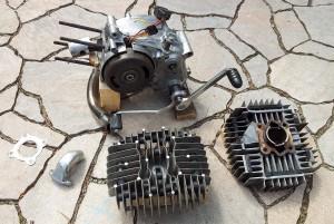 Gereinigte Motorteile